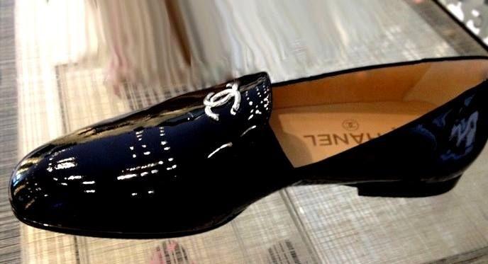 Chanel Patent Leather Slipper for Men