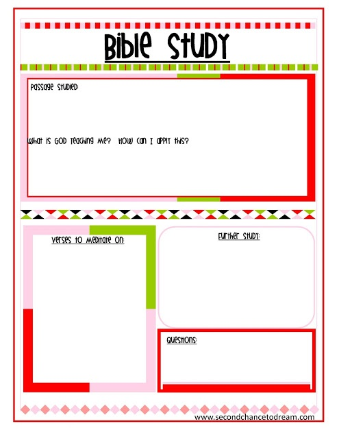 Second Chance to Dream: {Bible Study and Prayer Request Printables}