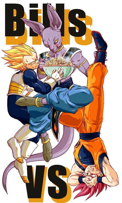 Goku and Vegeta vs Bills | Stuff | Pinterest