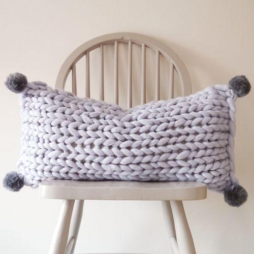 Lauren Aston Designs Chunky Knit Oblong Cushion