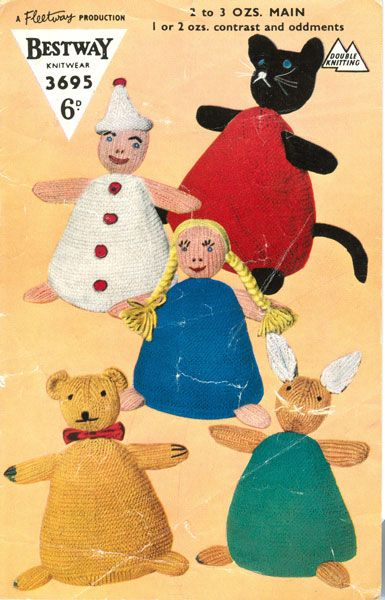 Knitting Toys Magazine : Best images about vintage knitted toys on pinterest