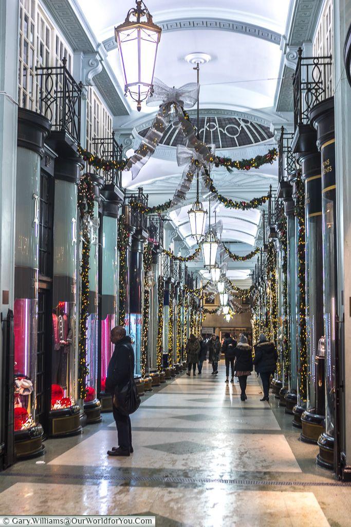 Piccadilly Arcade, Christmas, London, England, UK