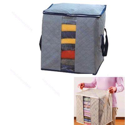 F85 складной бамбук уголь одежда свитер одеяло шкаф организатор сумка для хранения Box бесплатная доставка