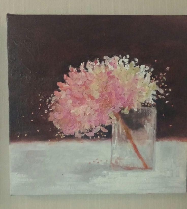 pressed flowers / oil paint