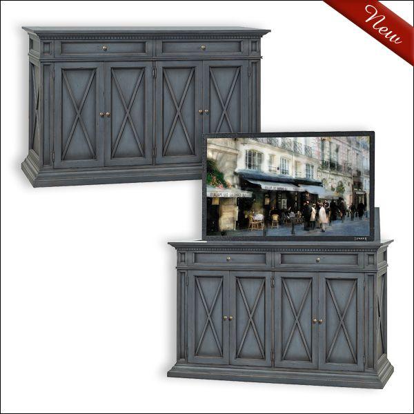 10 best hidden tv cabinet images on pinterest hidden tv for Tv in furniture hidden