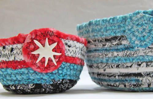 DIY gorgeous fabric bowls