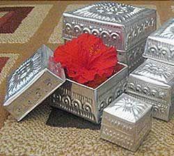 Aluminum Handicrafts - Square box set of 5