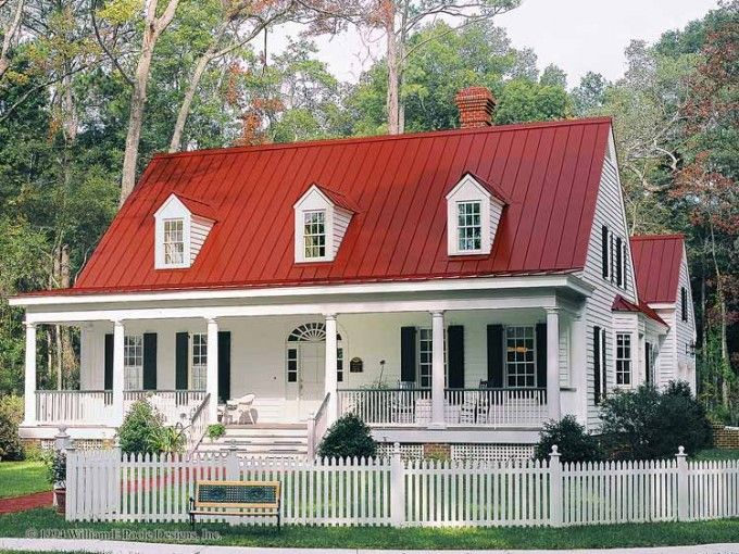 Farmhouse House Plan.  love this one and it is GA Bulldog colors!  LoL
