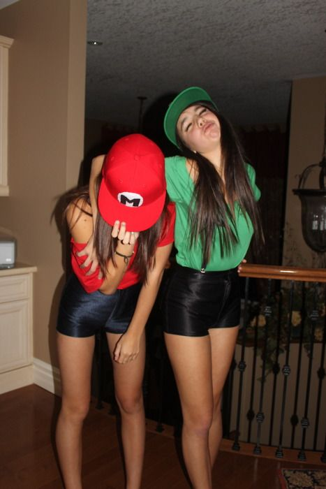 Cute Costume Ideas For Teenage Girls | Mario And Luigi Costumes For Teenage Girls me and u Katie!