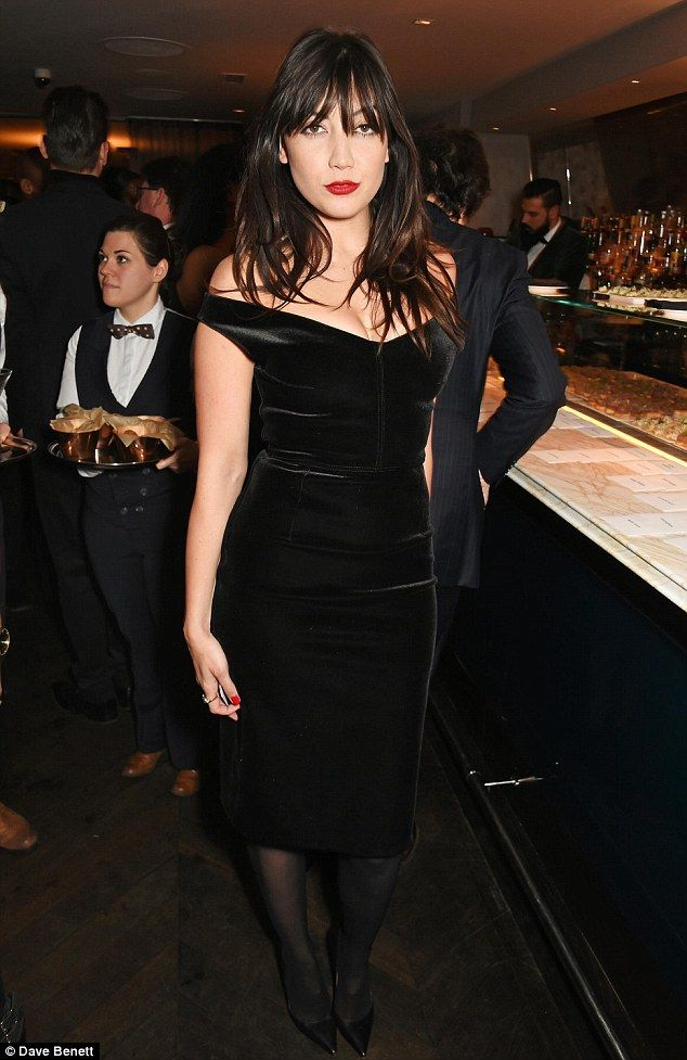 Velvet Crush! Daisy Lowe smouldered in black bardot dress at the LCM closing dinner party on Monday