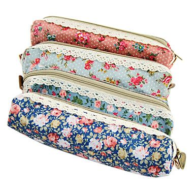 USD $ 3.49 - Flower Lace Pen Bag(Random Color), Free Shipping On All Gadgets!