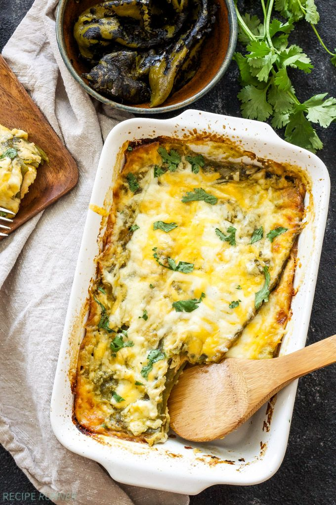 Easy Chile Rellenos Casserole   This quiche-like casserole made up of layers of green chiles and cheese is a meal even the most novice cook can put together!