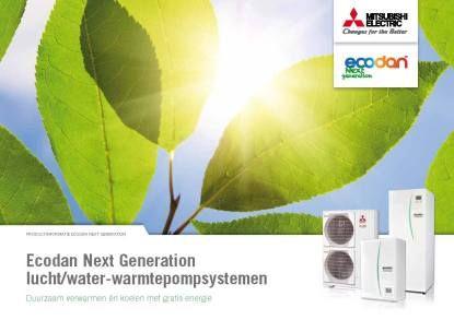 Ecodan lucht/water warmtepompsystemen