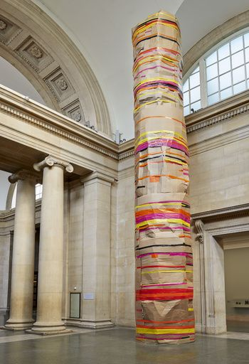 Phyllida Barlow - Installation view: 'dock', Duveen Commission, Tate Britain, London, England, 2014