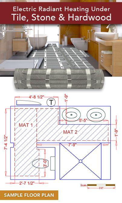 Full Coverage Custom Mat Floor Heating   http://www.warmlyyours.com/en-US/floor-heating/hardwood-heating