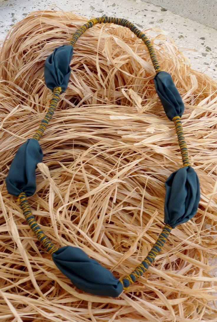 Idee per collane con tessuti  necklace