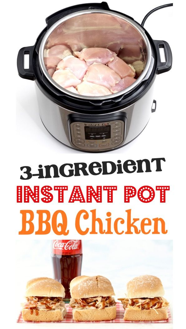 Easy Instant Pot BBQ Chicken! {3 Ingredients} – The Frugal Girls