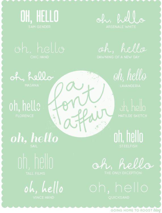 A font affair - free fonts