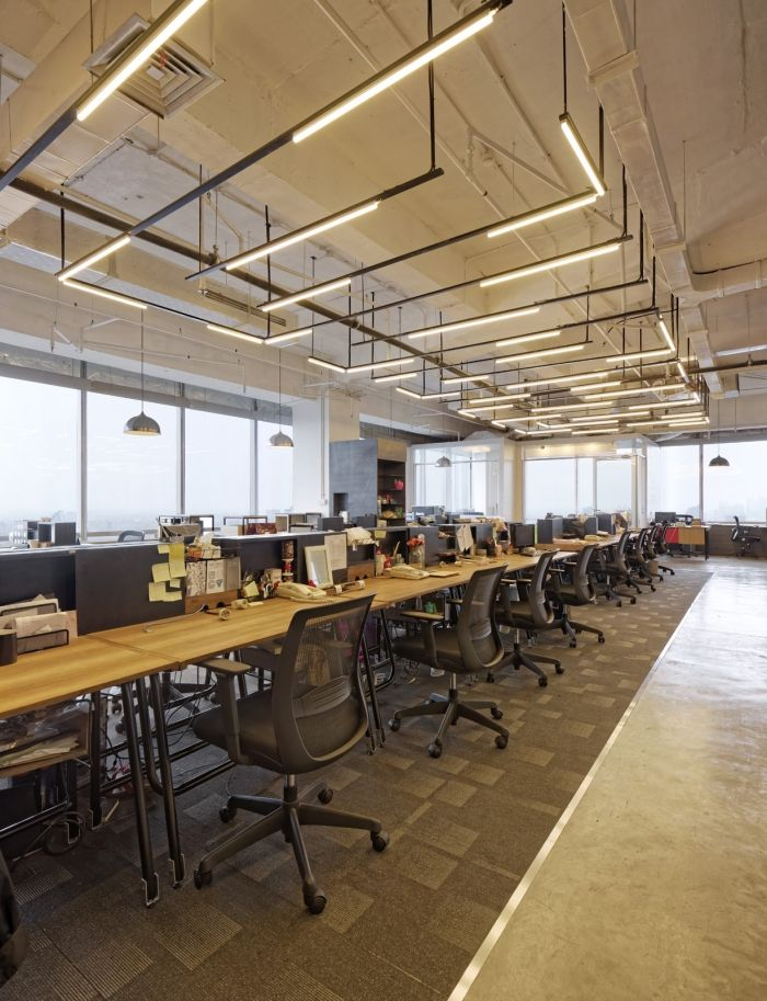 lighting in offices. for all the fluoresent lightschange it up but keep structure bbdo lighting in offices