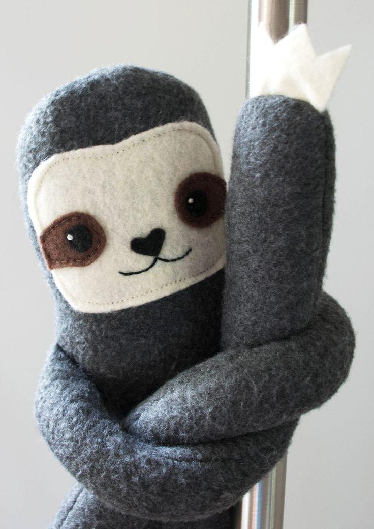 felt sloth inspiration - i made a three toed sloth plush - Imgur