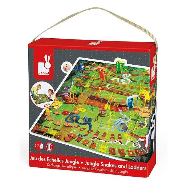 Kígyók és létrák társasjáték&puzzle Janod