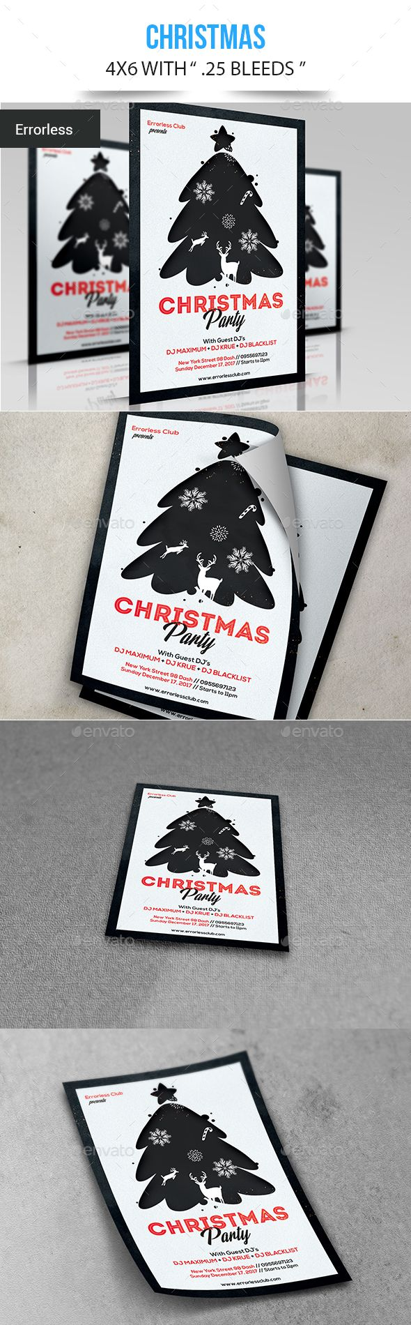 #Christmas - #Events Flyers