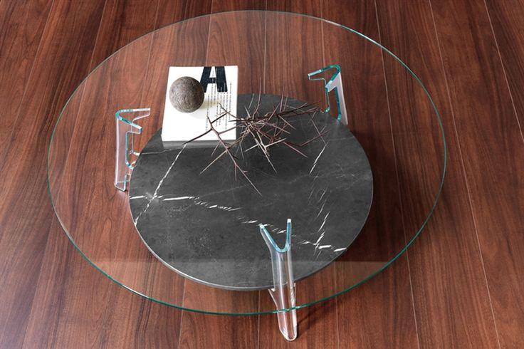 FIAM | GlazenDesignTafel.nl | Glazen salontafel Flute | vidre glastoepassingen