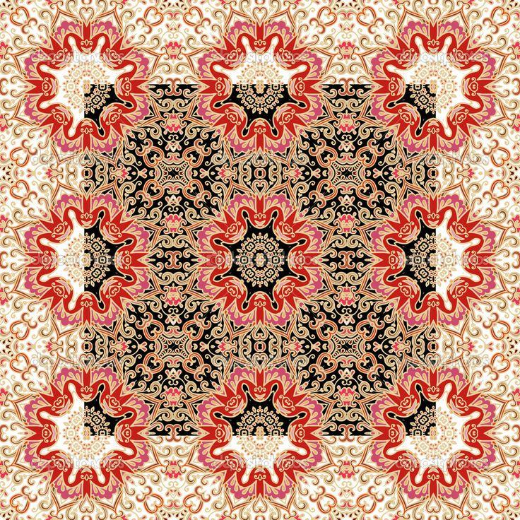Бесшовные геометрические абстрактный узор - Стоковая иллюстрация: 45442179