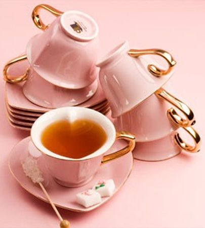 Pink Heart Shaped Tea Cups And Saucers Tea Cups Pinterest