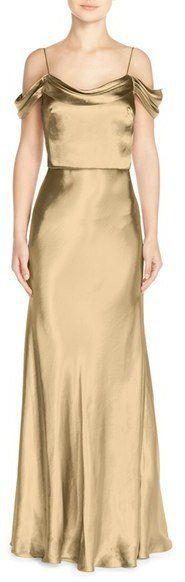 """Pin for Later: 50 Kleider für alle Gäste einer Hochzeit im Sommer  Jenny Yoo """"Sabine"""" goldenes Kleid mit Drapierung (283 €)"""