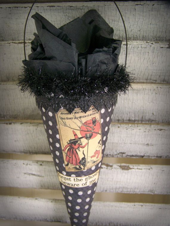 Handmade Halloween Treat Cone Halloween Party Favor ...