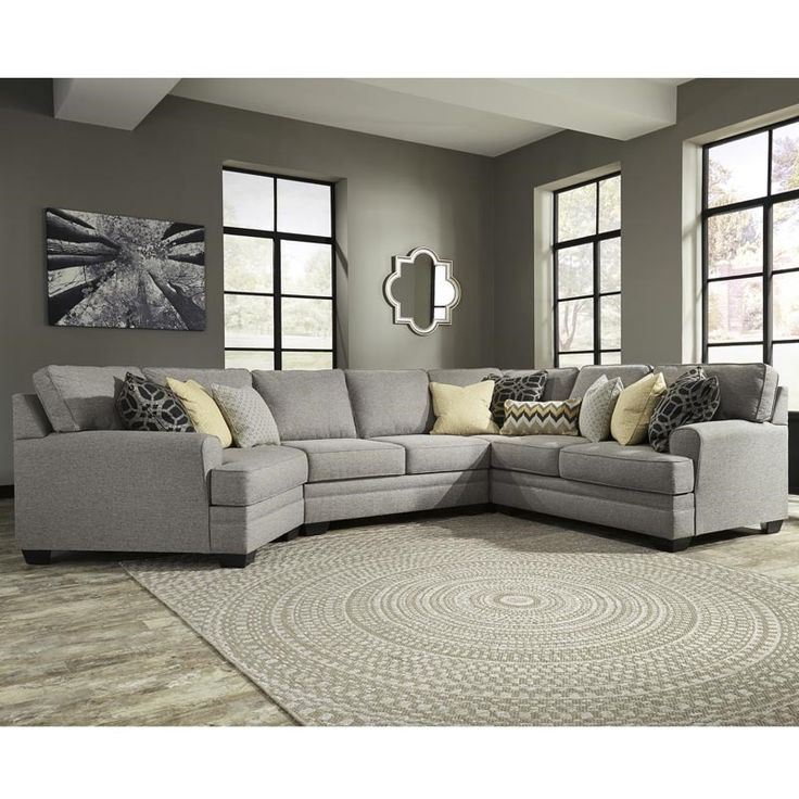 Ashley Cresson Gray Sectional with Cud | Furniture and Mattress Outlet