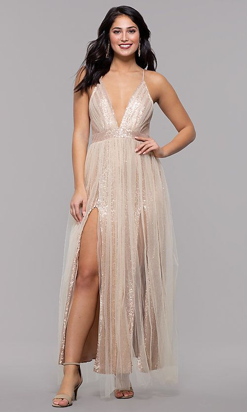 4dbe74703fa2 Champagne Rose Gold Prom Dress by Kalani Hilliker in 2019 | PROM ...