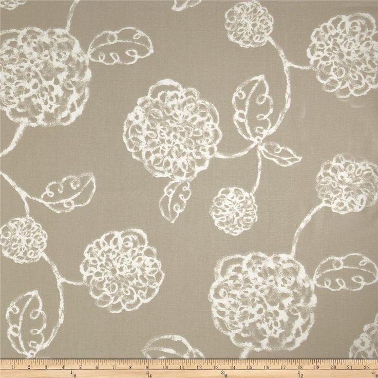 Magnolia Home Fashions Adele Linen from @fabricdotcom  Screen printed on cotton duck; this versatile, medium weight fabric is perfect for window accents (draperies, valances, curtains and swags), accent pillows, duvet covers, upholstery and other home decor accents. Create handbags, tote bags, aprons and more. Colors include linen-tan and white.