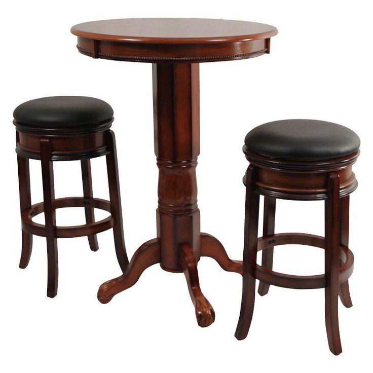 Boraam Magellan 3 Piece Pub Table Set - BOR136
