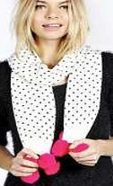 boohoo Heart Print Contrast Pom Pom Scarf - white Whether youre fighting the freeze in a faux fur stole, or curbing the cold in a quirky fedora hat, scarves and hats are the outfit-perfecting accessories we all need. Stripe trim scarves and beanies b http://www.comparestoreprices.co.uk/womens-accessories/boohoo-heart-print-contrast-pom-pom-scarf--white.asp