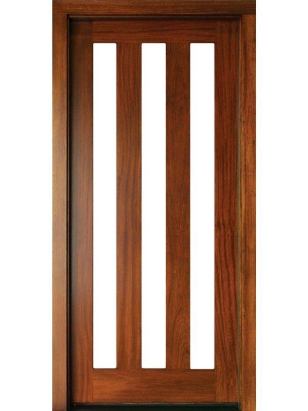 Mahogany Milan 3 Lite Single Door 2 1 4 Thick By Dsa Exterior Single Doors Wood Exterior Door Exterior Doors