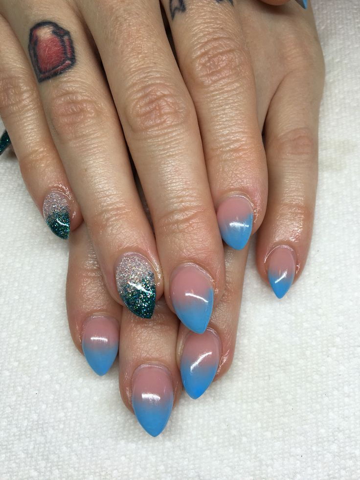 Ombré with baby boomers gel nails  By Melissa Fox