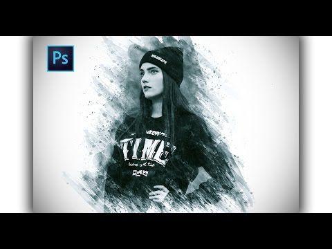Photoshop Tutorial : Amazing brush strokes Effect - YouTube