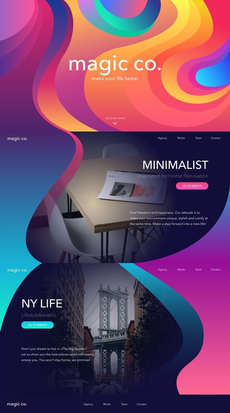 landing page design by TUBIK