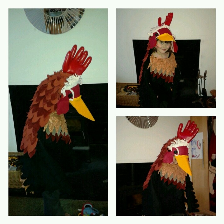 Cockerel costume for my son's nativity play
