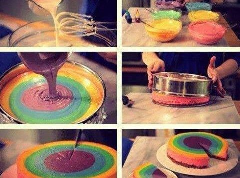 Come fare cheesecake arcobaleno