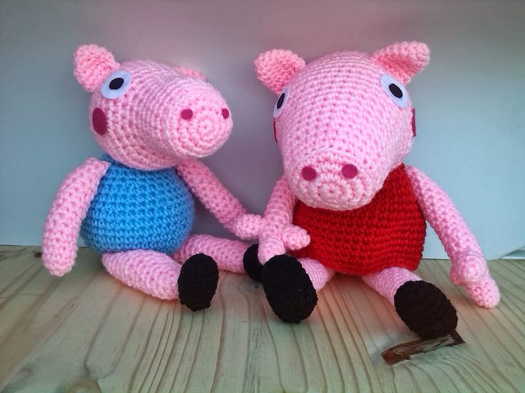 Amigurumi Tutorial Peppa Pig : Rainbow loom george pig action figure charm from peppa pig