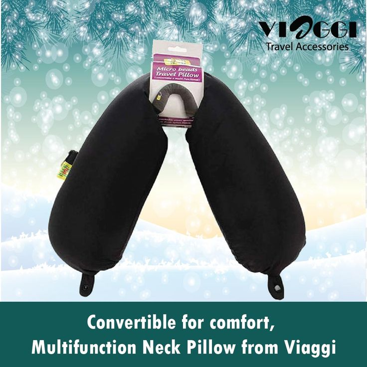 1.#Microbeads Travel Neck and Shoulder #Pillow Relaxer from #ViaggiTravelWorld. This convertible pillow gently cradles your neck while supporting your head for lasting comfort. You can also use the pillow under your legs , back or arms to adjust your posture to keep yourself comfortable while sleeping or relaxing. www.viaggitravelworld.com