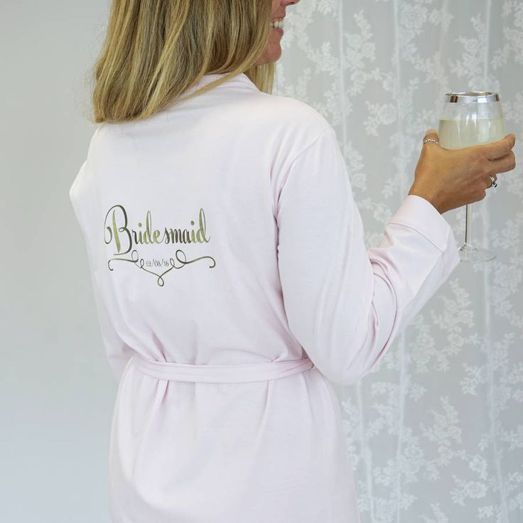 Are you interested in our bridesmaid dressing gown? With our bride dressing gown you need look no further.