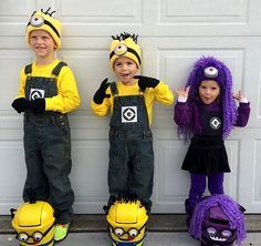 Here's Kylan, Caden and Kinzley in their Minion Halloween costumes and their Minion trick or treat bags I created. I'll tell you how to make them in a later post. I have to say they turned out so m...