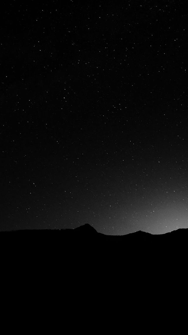 Dark Night Sky Silent Wide Mountain Star Shining #iPhone #5s #wallpaper | iPhone 5~SE Wallpapers