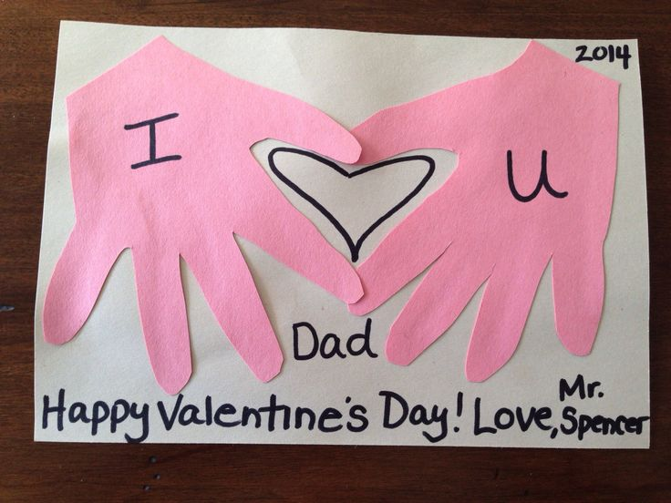 Handprint valentine kids craft