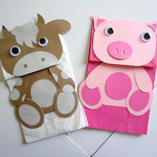 Pig Paper Bag Puppet