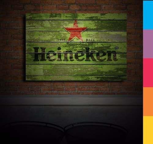 Placas Decorativas - Cerveja Heineken Retrô 20x30cm